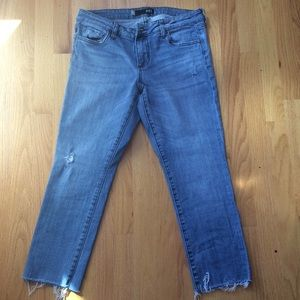 Kut from the Kloth distressed ankle jeans